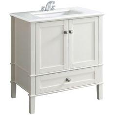 "Found It At Wayfair  Nico 33"" Single Bathroom Vanity Set With Beauteous White Bathroom Vanity Home Depot Design Ideas"