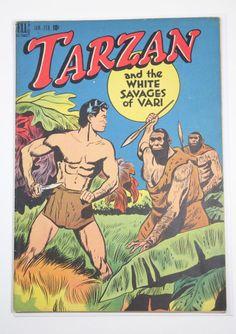 Golden age Tarzan comic book in Mint condition in the series Marvel Comic Books, Comic Book Characters, Comic Books Art, Comic Art, Marvel Comics, Marvel Dc, Book Art, Fictional Characters, Romance Comics