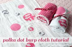 Learn how to make burp cloths with this fun and EASY sewing tutorial for polka dot burp cloths on the Polka Dot Chair Sewing blog.