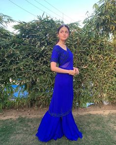 Alia Bhatt Gets All Teary-Eyed During Bestie, Devika's Vidaai, Looks Resplendent In Blue Saree Indian Wedding Outfits, Indian Outfits, Indian Clothes, Wedding Dress, Bridal Outfits, Wedding Wear, Indian Attire, Indian Wear, Latest Saree Trends