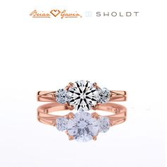 How beautiful is this Rose Gold Diamond Engagement Ring?