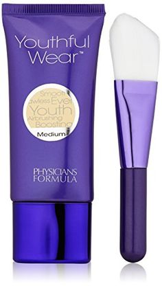 Physicians Formula Youthful Wear Cosmesceutical Youth-Boosting Foundation, Medium, 1 Ounce * You can find more details by visiting the image link. Physicians Formula Makeup, Lightweight Foundation, Even Out Skin Tone, Formulas, No Foundation Makeup, Medium, Face Makeup, Youth, Fragrance