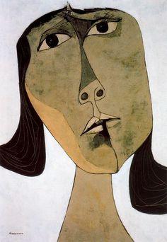 """Homenaje a Tania nº 1"" (1969) By: Oswaldo Guayasamin//portrait//"