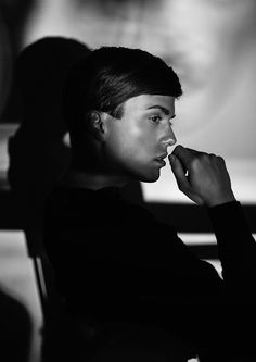 Georg Mallner Instagram: GEORGXM Website: www.georgmallner.com  editorial, black and white photography, male model, mood.