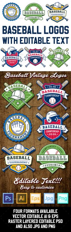 Baseball Logo Templates - Decorative Symbols Decorative
