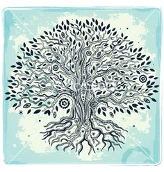 Beautiful vintage hand drawn tree of life vector 1333861 - by transia on VectorStock®