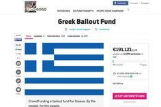 Eine Crowdfundingkampagne auf Indiegogo soll Griechenland retten. Die Aktion läuft bereits erfolgreich an