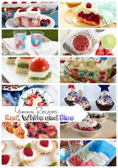 Link up at the new party and check out all the delicious Red White and Blue Recipes that were linked up last week to the party. Get inspired for summer colorful eating.