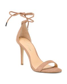 Ankle Tie Heeled Dress Sandals
