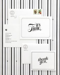 Black-and-White Invitation