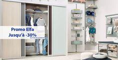 Soldes Elfa- Jusqu'à -30%  sur le site www.maison-dressing-rangement.com