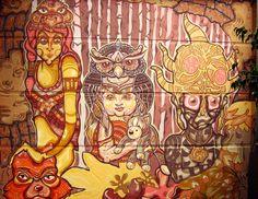 Con juanita Diaz  y ANCU. Pintura realizada en Ce-Art. ...2012..