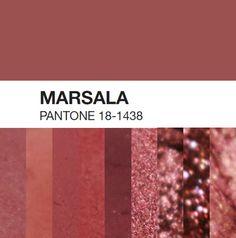 Sombras com a cor Marsala, a cor de 2015!