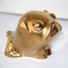 Pug Dog Sculpture Mops Carlin My Golden Sweetness, handmade painted pug figurine by PSIAKREW on Etsy