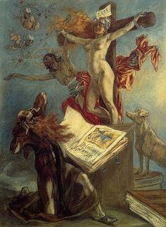 Félicien Rops, La tentation de St Antoine, 1878 on ArtStack #felicien-rops #art