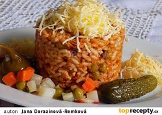 Srbské rizoto z vepřové plece recept - TopRecepty.cz Baked Potato, Risotto, Grains, Paleo, Potatoes, Beef, Baking, Ethnic Recipes, Food
