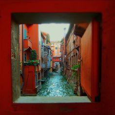 Tilt shift secret window in Bologna - Instagram by @acooknotmad