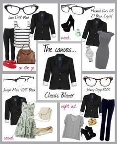 Glasses fashion | How to style a blazer. Coastal.com