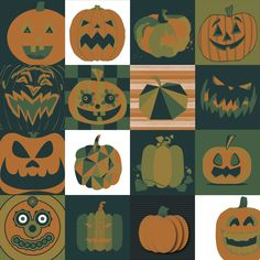 2016 UVU Collaborative Art Project. 16 Students (Graphic Designers), 5 colors, 1 theme (Pumpkin), 30 minutes to Illustrate. This is the result!