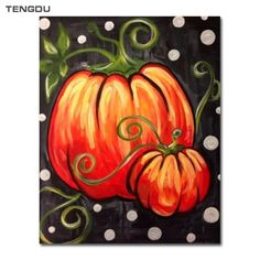 What is Your Painting Style? How do you find your own painting style? What is your painting style? Fall Canvas Painting, Autumn Painting, Autumn Art, Pumpkin Painting, Pumpkin Carving, Carving Pumpkins, Rock Painting, Balloon Painting, Autumn Ideas