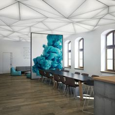 Coworking office by Agnieszka Jankowska, via Behance