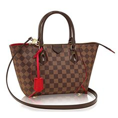 Authentic Louis Vuitton Damier Caissa Tote PM Handbag  Cherry Made in France