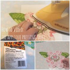 the applique pressing sheet-- Such a great sewing tool!  Watch a quick video to learn how to use it in your crafts and applique projects.