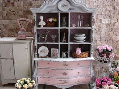 Dollhouse Miniature Vintage Shabby Chic Farmhouse Country French Baby House Armoire Cabinet on Etsy, $263.86 AUD