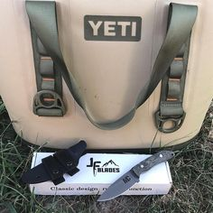 Received two really sweet gifts last weekend. @chadmendes hooked me up with @yeti and the master knife maker Josh at @jfblades crafted me a beautiful yet extremely sharp, sturdy and effective custom knife with my logo on it. Thanks guys! @finzandfeatherzguides #hunting #fishing #hunt #fish #knives #knifecommunity #yeti #yeticoolers #yeti #outdoors #camping #hiking #canoeing #floating http://misstagram.com/ipost/1562760568207819216/?code=BWwCnT5A8HQ