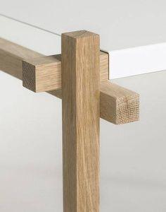furniture details Wood Joinery in Furniture Design Freestanding Room Divider, Wood Furniture, Furniture Design, Furniture Stores, Regal Design, Wood Joints, Wood Detail, Wood Design, Design Table