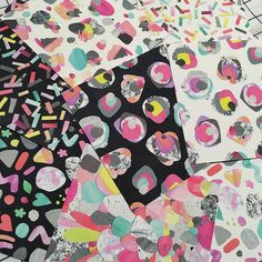 """""""A messy peek inside of my head right now. Pattern. Patterns. Lots of collage and pattern. #pattern . Preparations for exhibiting in NYC in May  with…"""""""