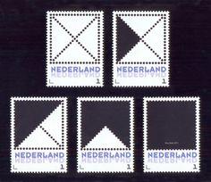 Nico Kok - Vierkant met diagonalen