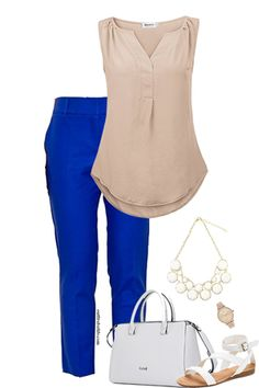 Want to look cute and classy at work but don't know where to start? Visit outfitsforlife.com for links to each item pictured and for even more great outfit inspo! #outfitsforlife #ofl #ootd #outfitinspiration #workoutfits #outfitsforwork #businesscasual #classy #spring #summer