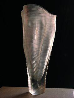 handworked Murano glass  massimo MICHELUZZI Murano Glass Vase, Glass Ceramic, Cast Glass, Venetian Glass, Blown Glass, Glass Ornaments, Venice, Stained Glass, Glass Art