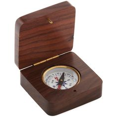 ModCloth Nautical Get Your Bearings Compass Box ($15) ❤ liked on Polyvore featuring home, home decor, small item storage, fillers, accessories, decor, modcloth, brown, home accessory and odds & ends