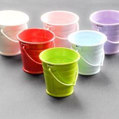 Green 4 cm metal bucket - Metal Buckets and Pots