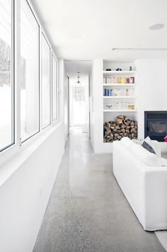 concrete flooring Incredible Polished Concrete Floor To Add Privileges In Your Home Concrete Kitchen Floor, Polished Concrete Flooring, Concrete Tiles, White Concrete, Kitchen Flooring, Polished Concrete Kitchen, Terrazzo Flooring, Concrete Interiors, Luxury Rooms