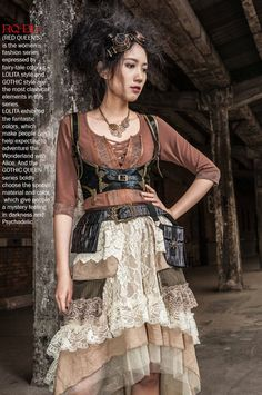 Safari Steampunk Anyone? Steampunk is a rapidly growing subculture of science fiction and fashion. Steampunk Mode, Steampunk Corset, Steampunk Cosplay, Steampunk Design, Steampunk Clothing, Steampunk Bags, Steampunk Outfits, Steampunk Pirate, Half Elf
