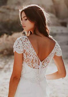 0a1bbff402b0 Anna Campbell Anna Dress A-Line Wedding Dress Lace Weddings, Lace Tops, Lace