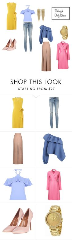 """Rectangle Body Shape"" by kristenjaeger ❤ liked on Polyvore featuring Dorothy Perkins, Yves Saint Laurent, Cushnie Et Ochs, Rachel Comey, Harris Wharf London, Topshop, Michael Kors and Kenneth Jay Lane"