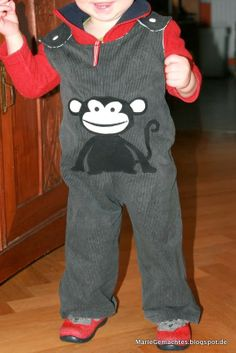 Latzhose aus Herrenhose / Men's trousers become boys' bib overall Upcycling