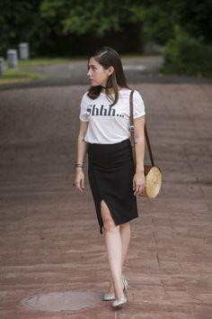 Pencil skirt + t-shirt - Dream Life Factory