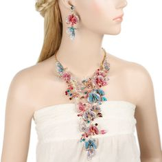 BELLA 2015 Spring 3 Colors Butterfly Wedding Necklace Earrings Set For Women Austrian Crystal Jewelry Set For Bridal Bridesmaid-in Jewelry Sets from Jewelry on Aliexpress.com | Alibaba Group