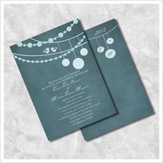 Lanterns & Love Wedding Invitations by ImpressivePrint on Etsy, $5.95