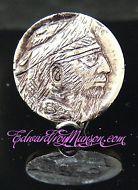 Hobo Buffalo Nickel Coin with Pirate Skull Artwork!!!