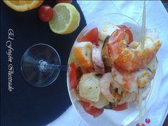 Ensalada de Salpicon de Marisco con vinagreta de naranja