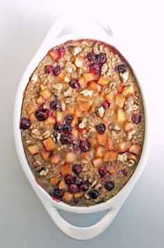 The beauty of this delicious cranberry-apple baked oatmeal is that once you bake a batch over the weekend, you can divide it up in resealable containers to take to work each day. It's good cold, room temperature, or heated up.