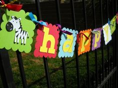 Zoo birthday banner