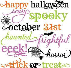 Halloween Words Set SVG