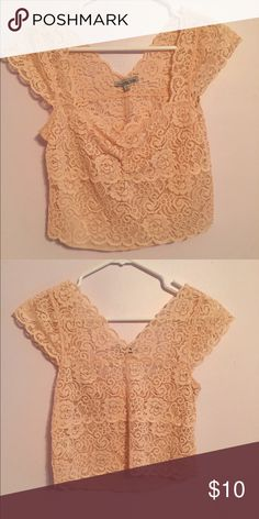Brand new lace crop top Brand new lace crop top. Looks great with a maxi skirt or shorts. Size large but would fit medium. Cheaper on Ⓜ️ercari! Tops Crop Tops